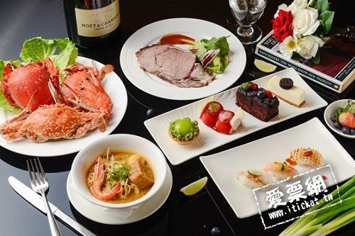 高雄國賓餐劵I RIVER 愛河牛排海鮮自助餐廳平日自助晚餐券