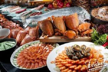 [愛票網]台南夢時代漢來海港餐廳平日自助晚餐券(全台通用)